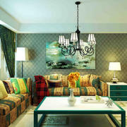 古典韵味的三居室客厅装修效果图欣赏