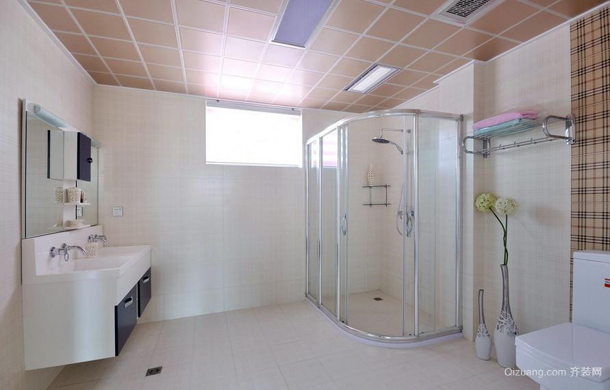77平米简约小卫生间设计效果图