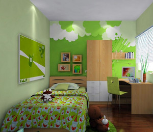 宜家欢快的三居室儿童房装修效果图