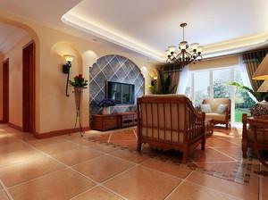 独特韵味的地中海风格客厅地板装修图片