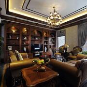 室内美式小客厅图片
