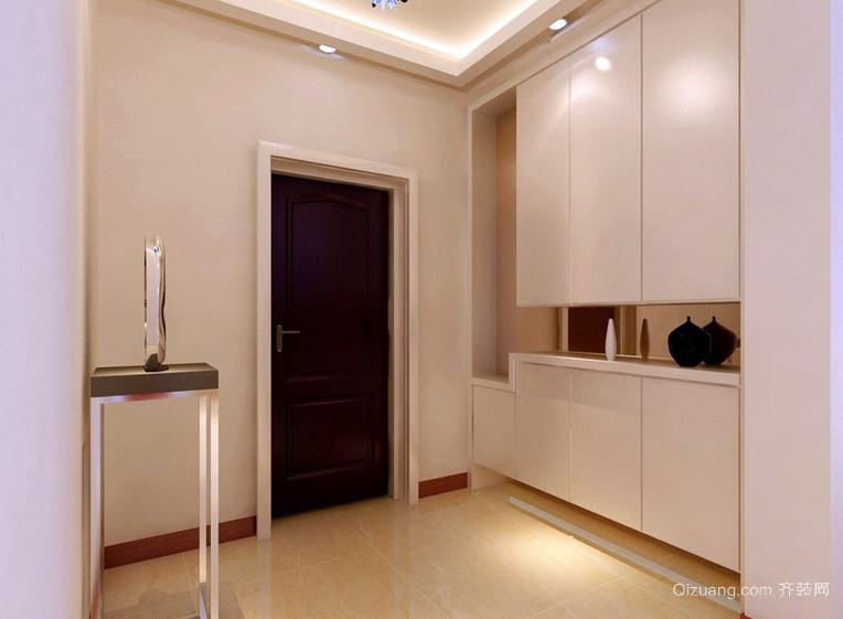 简约现代小公寓玄关设计装修效果图