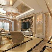 欧式客厅精美吊顶图片