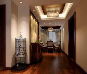 儒雅中式80平米两居室玄关设计效果图
