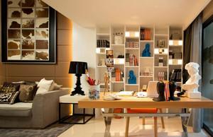 单身公寓现代开放式书房装修效果图