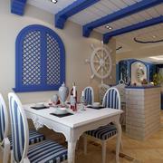 唯美小户型地中海风格餐厅装修图片
