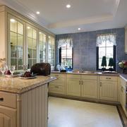 室内开放式厨房展示
