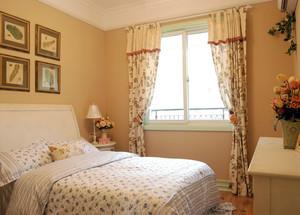 一室一厅田园小卧室窗帘效果图