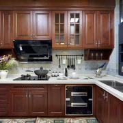 复式楼厨房实木橱柜