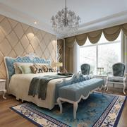 2016小户型欧式风格卧室装修效果图案例