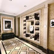 大户型后现代风格玄关壁柜装修效果图