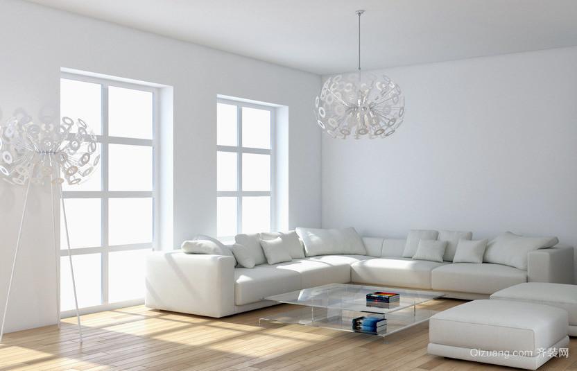 简约纯净的大客厅装修效果图欣赏