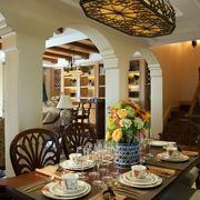 室内餐厅自然装饰