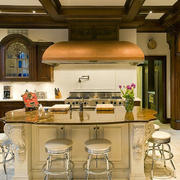 室内开放式厨房别致吧台