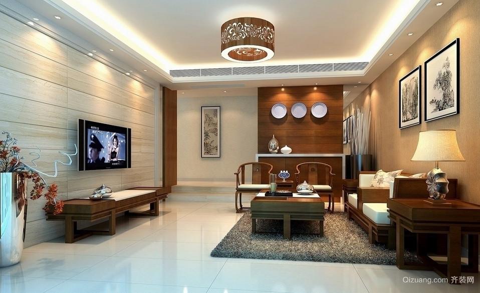 古典风格客厅室内电视背景墙装修效果图