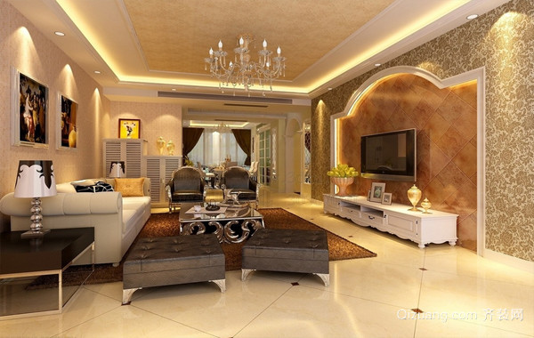 豪华气质型欧式大客厅装修效果图