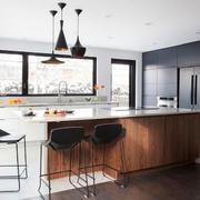复式楼开放式厨房吧台