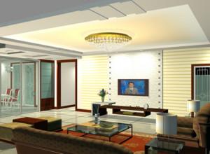 2016别墅型客厅电视背景墙装修效果图实例