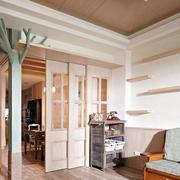两室一厅实木推拉门设计