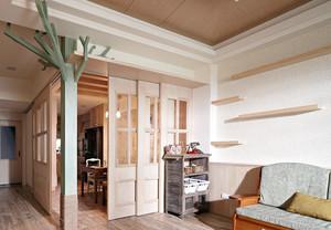 98平米自然朴质的两室一厅装修效果图