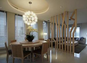 朴素112平米家居客餐厅隔断设计效果图