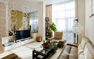 两室一厅客厅时尚电视墙