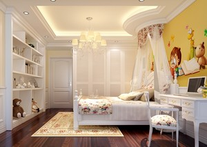 浪漫的韩式风儿童房设计装修效果图