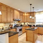 素朴乡村风大户型厨房设计装修效果图