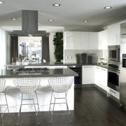 冷色调后现代风格厨房设计装修效果图