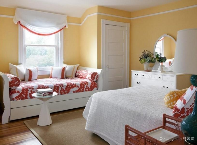 女生小卧室韩式飘窗设计装修效果图