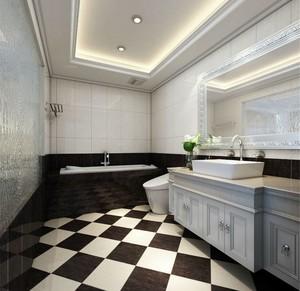 黑白系列新古典风格卫生间装修图片