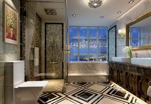 大户型新古典格调卫生间瓷砖装修图片