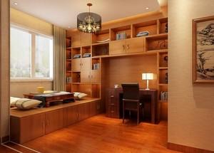 禅意日式风小书房设计装修效果图