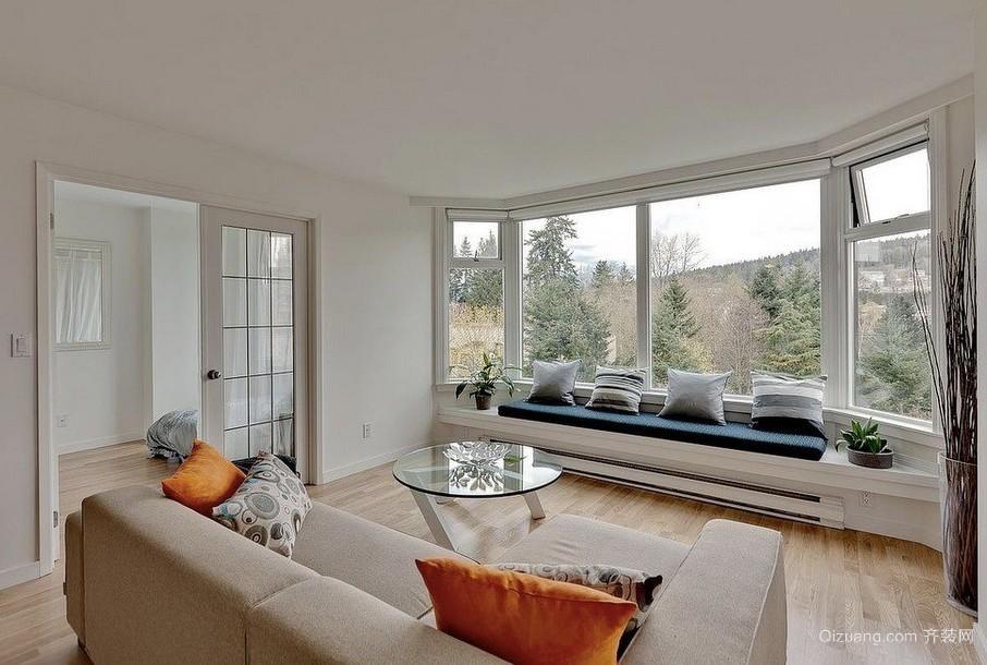 郊区独栋小别墅轻快飘窗设计装修效果图
