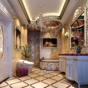 小复式楼新古典18平米卫生间装修图片