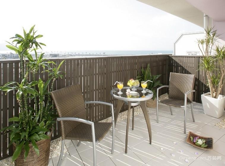 三居室韩式风格阳台设计装修效果图