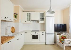 纯净韩式风小厨房设计装修效果图