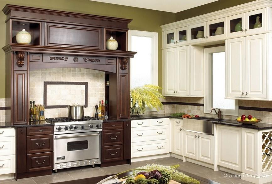 2016新古典风格厨房设计装修效果图