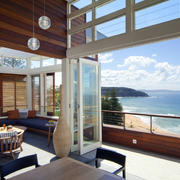 超唯美的海景别墅休闲大阳台装修图片