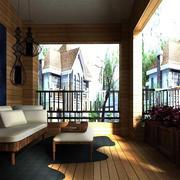 344平米别墅东南亚风格小阳台装修图片