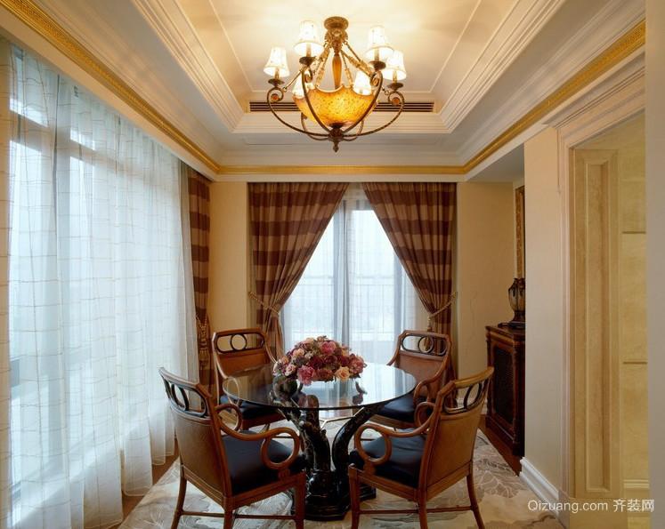 欧式古典风格小阳台餐厅装修图片