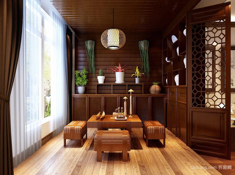 古典温婉的两居室阳台装修设计图