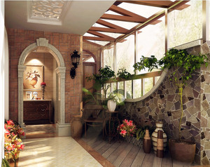 独具匠心的古典小阳台装修效果图片
