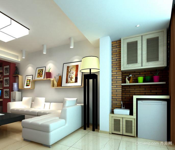65平米韩式小公寓阳台装修实景效果图