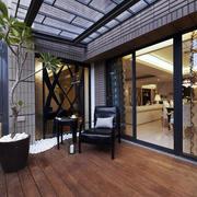 230平米大户型古典阳台设计装修效果图