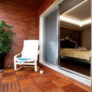 2016三居室古典阳台设计装修效果图