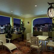 复古154平米大户型阳台装修效果图片