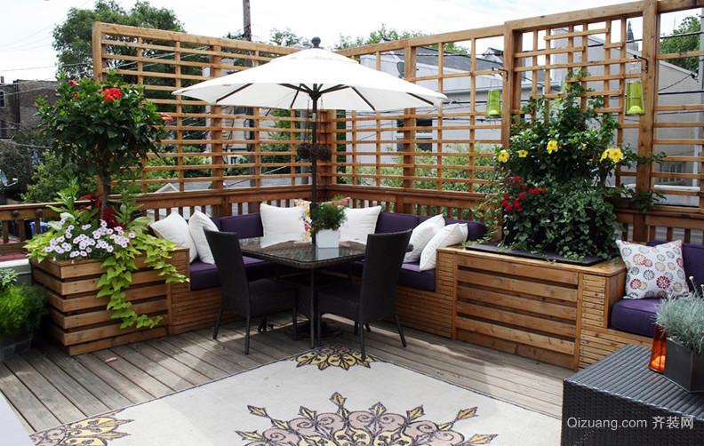 小复式楼韩式风格阳台花园装修实景图片