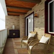 乡村自建别墅古典风阳台装修设计图