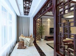 新古典两室一厅阳台设计装修效果图